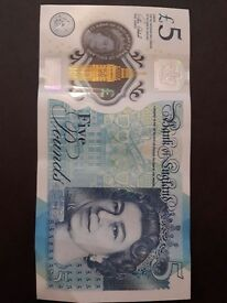 Collectable £5 Note AK47 Serial Number