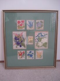 FRAMED SILK EMBROIDERY