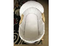 CLAIR DE LUNE MOSES BASKET AND STAND ***USED***