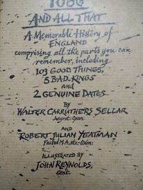 1066 and All That Sellar and Yeatman Folio Society Hardback