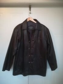Men's Casual Dark Brown Leather Jacket (L). None Smoker. Excellent condition