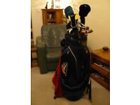 Excellent Condition Full Set of Top Brand Golf Clubs and Powakaddy bag with box of Callaway Balls