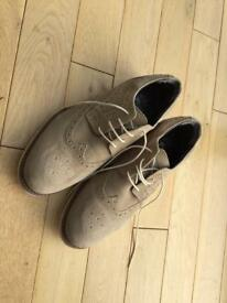 Boys suede (brogue style) shoes size 7