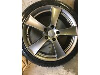 5 stud alloy wheels with tyres