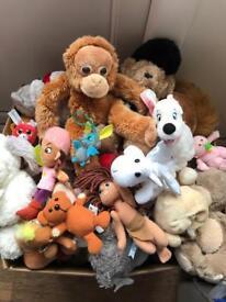 Large box Cuddly Toys 100+