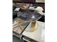 Round Glass Coffee Table - Side Table - Living Room Furniture cash on delivery