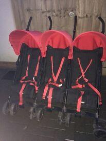 O baby triple buggy