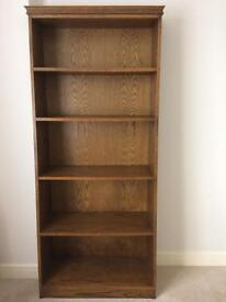 Attractive Bookcase Oak finish, beautifully made by hand, excellent condition. Must be seen!