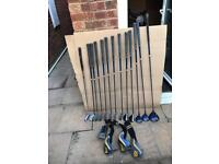 Full set graphite golf clubs and putter