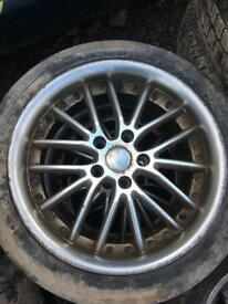 "5x110 17"" deep dish alloys with tyres"