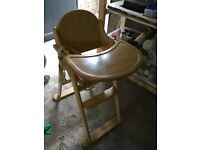 Mothercare Wooden High Chair - Very good condition