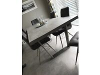 Barker and Stonehouse Concrete Effect Dining Room Table