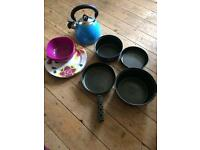 Camping pans , kettle plates and bowls