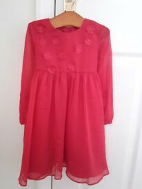 Monsoon Girls Red Dress Age 2 to 3