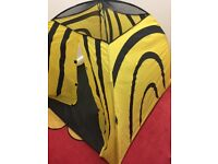 kids play bee tent yellow and black pet and smoke free