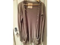 camel Hollister long cardigan size small
