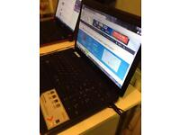Laptop windows 7 wifi with face recognition DVD rw
