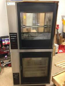 Henny Penny Rotisserie BBQ Machine with Attached Warming Oven - Commercial Oven