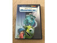 DISNEY PIXAR MONSTERS INC DVD