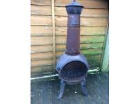 Cast iron chimenea / wood burner £15