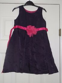 purple dress with pink bow 2-3yrs collect or deliver Stonehaven only, no postage
