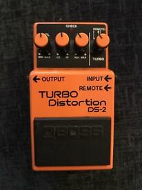 Vintage Boss DS-2 Turbo Distortion Pedal. MIJ September 1989 Nirvana Era stomp box