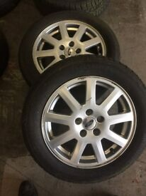 205/55/16 WHEELS AND TYRES 4.5TREAD FOR MONDEO/TRANSIT CONNECT