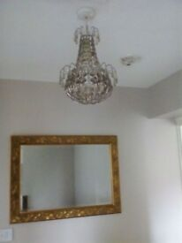 Two chandelier style lampshades
