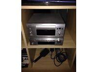 Denon music system stereo , mp3, amp