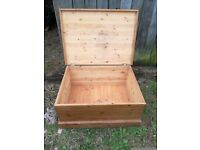 Pine blanket box needs a polish handles missing but easily fixable. See pics