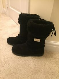 Guess Black Suede Short Ankle Boots -Size 5