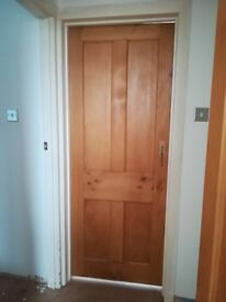 Traditional Old Pine four panel doors x 3