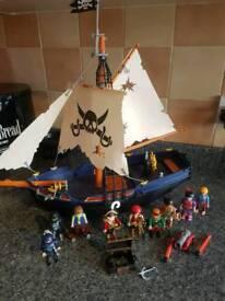 Playmobil pirate ship and figures