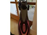 Cressi adjustable diving fins SMALL