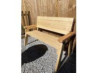 Handmade Solid Wood Bench