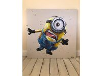 Minion (Stuart) Boxed Canvass Painting by Paul OZ Limited Edition