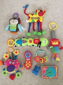 Baby toy bundle including Lamaze and Jelly Kitten