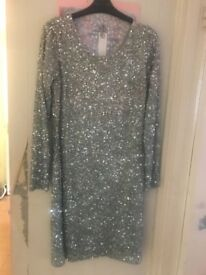 Beautiful sequin dress size 14 worn once for a few hours