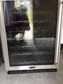 Rangemaster wine fridge. Black and chrome. Excellent condition.