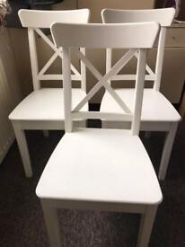 X 1 Ingolf dining chair in white RRP £45.00