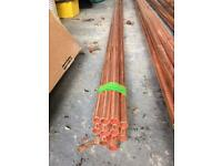 bundle of 15mm copper pipe