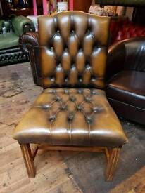 Antique Gold Chesterfield Chair