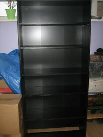 Tall Black Bookcase