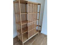 Beautiful natural wood bamboo wardrobe (IKEA Nordiska) - as new (RRP £229)