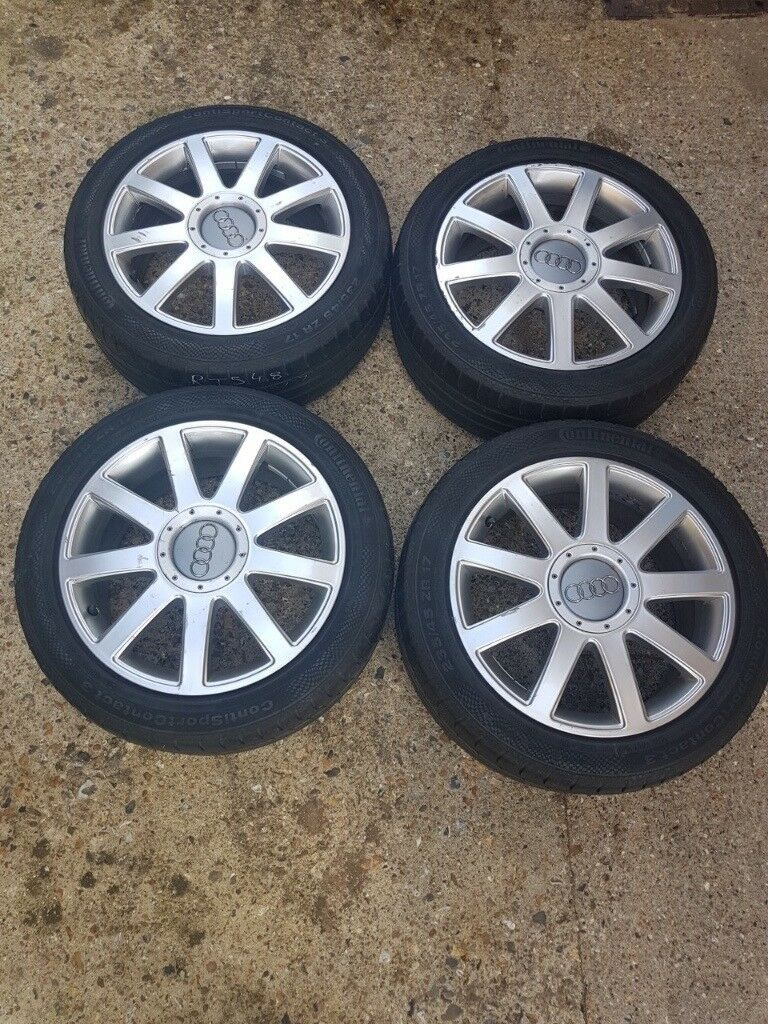 Genuine 17 Quot Audi Rs4 Alloy Wheels 9 Spoke 5x112 A3 A4 A6
