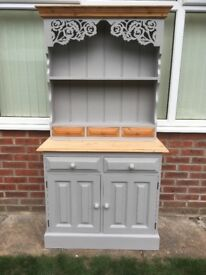 Kitchen Dresser-Refurbished-Painted Laura Ashley Pale French Grey