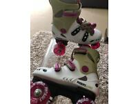 Phoenix Roller skates, (Junior Size UK 12), Pink & White. Excellent Condition.