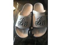 Brand new Men's size 10 bee inspired flip flops