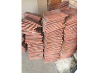 Large quantity of terracotta roof tiles