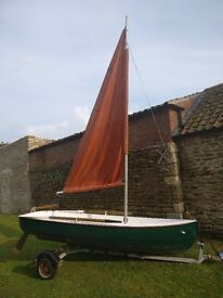 Boat and Trailer - Sailing Dinghy, Rowing Boat & Motorboat
